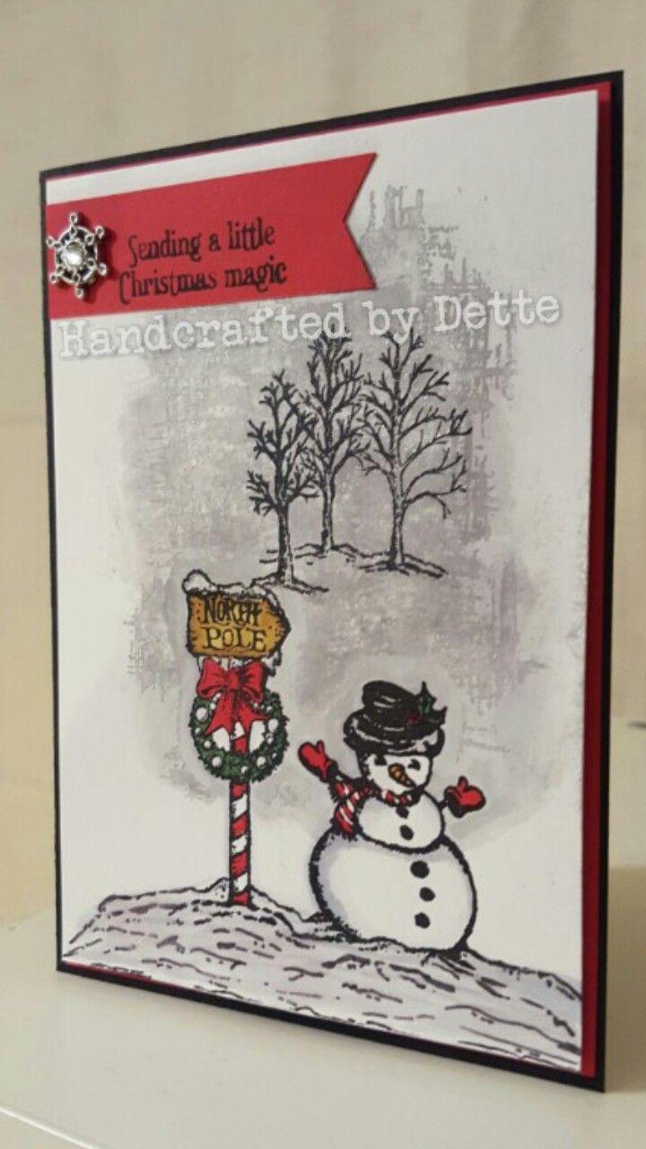 Card Making Ideas Christmas Free Part - 44: Christmas Card, Using Stampin Upu0027s Christmas Magic Stampset.