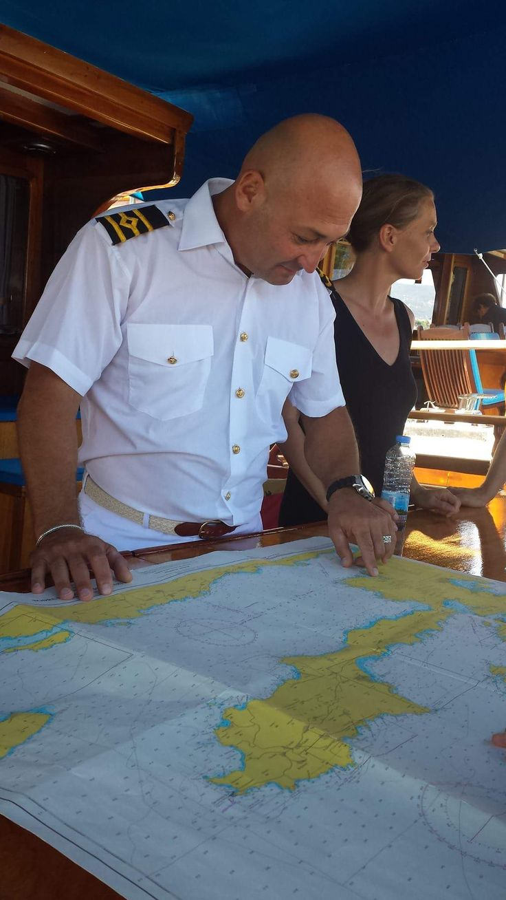 Captain Ibrahim replacing captain Olcay on yacht Randa for 1 week because of a well deserved holiday.