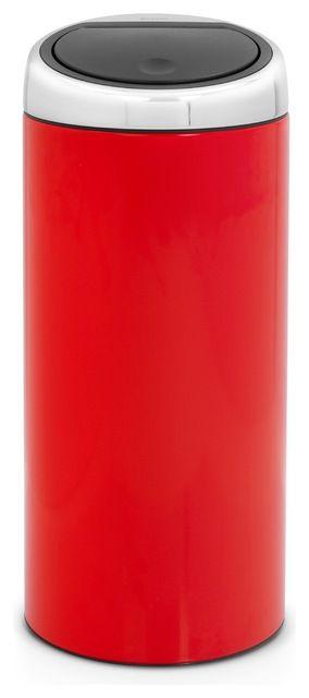 Brabantia Touch Bin®, 8 Gallon, Chrome Orange modern kitchen trash cans