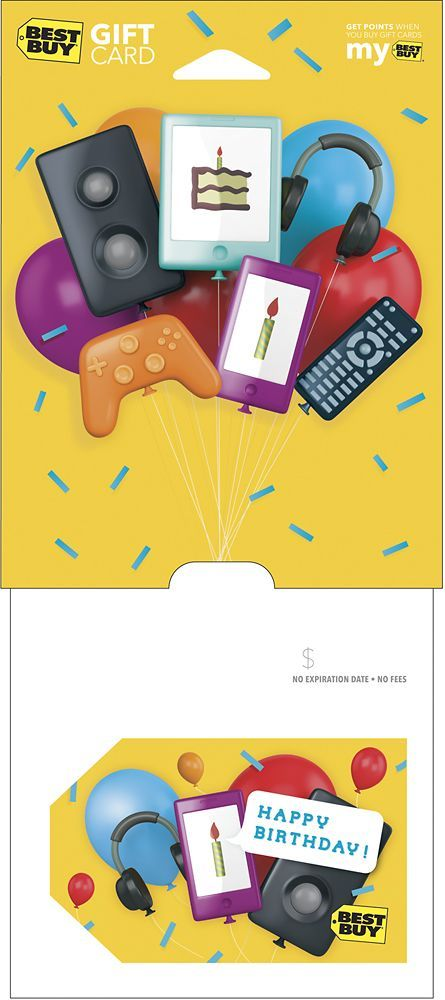 Best Buy Gift Card - $15 Happy Birthday Balloons Gift Card