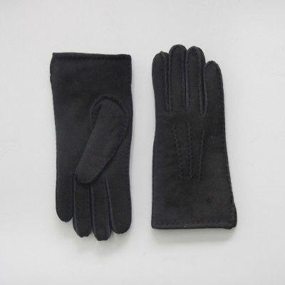 Redcurrent Double Faced Black Sheepskin Gloves