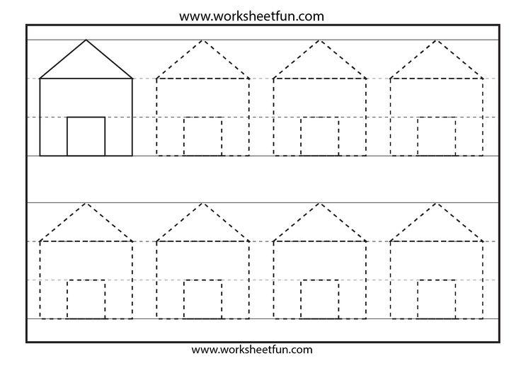 Preschool Shapes Tracing – 6 Worksheets / FREE Printable ...