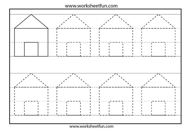 Preschool Shapes Tracing – 6 Worksheets / FREE Printable ...