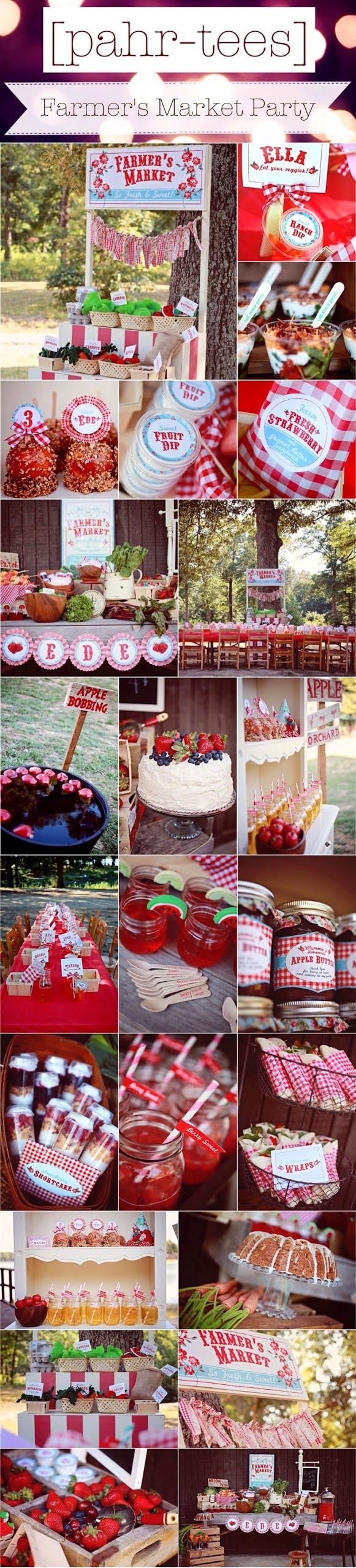 Moodboard Farmer's Market Theme Party | pahr-tees.blogspot.com