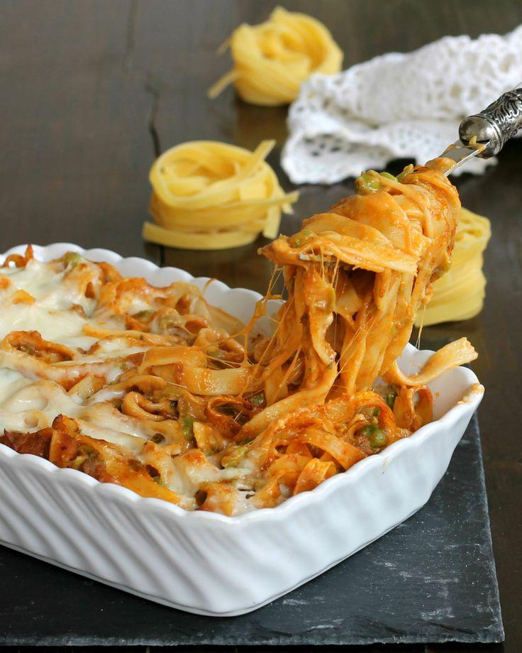 TIMBALLO DI TAGLIATELLE AL FORNO ricetta primo gustoso #pomodoro #ricetta #recipes #tomato #recipe #italianrecipe