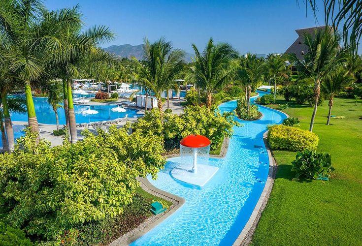 A view of the Mayan Palace Golf lazy river at Vidanta Acapulco! || Acapulco, Mexico