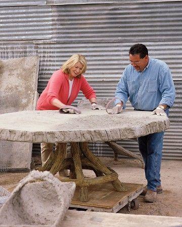 Martha makes faux bois with artist Carlos Cortez.  So fun!