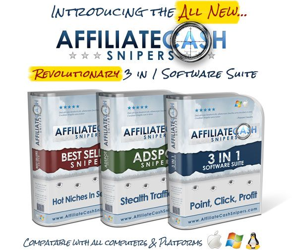 A 3-in-1 Software Suite That Draws Buyers To Your Affiliate Offers At The Most Profitable Locations On The Internet… And Offers Them The Hottest Best-selling Products Right Now.  http://newmarketingcash.com/affiliate-cash-snipers-review