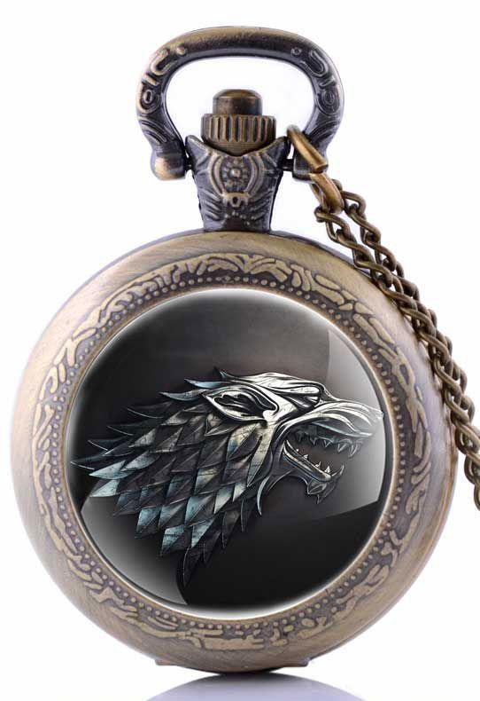 Like and Pin if you want this Vintage Pocket Watch Game of Thrones House Stark of Winterfell  Buy one here - http://www.worldofthrones.net/shop/vintage-pocket-watch-game-of-thrones-house-stark-of-winterfell/    FREE Shipping Worldwide!