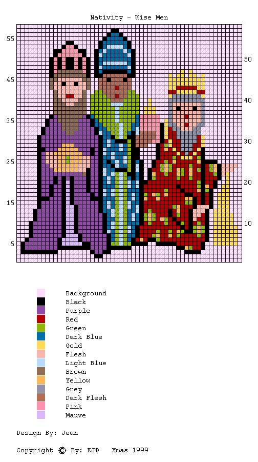 Knitting Stitch In Crossword : Wise men knititng chart Stitch Pinterest Knitting charts, Stitch and C2...