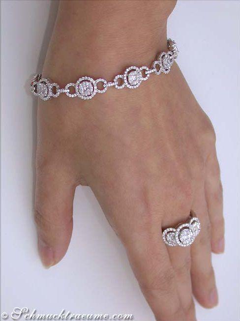 Feinstes Brillanten / Diamanten Armband im Illusion-Design » Juwelier Schmucktraeume.com