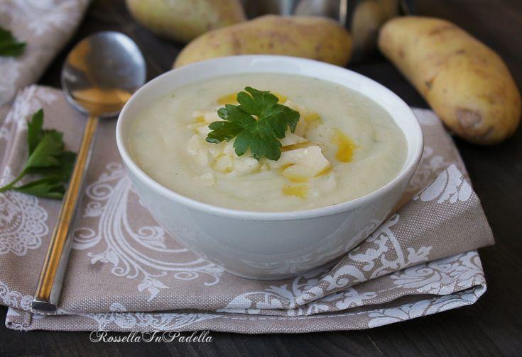 Vellutata di patate e cavolfiore con fontina