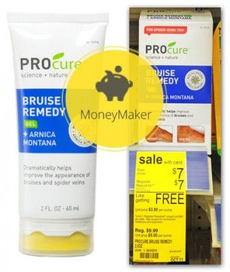 Moneymaker Procure Bruise Remedy Gel at Walgreens!