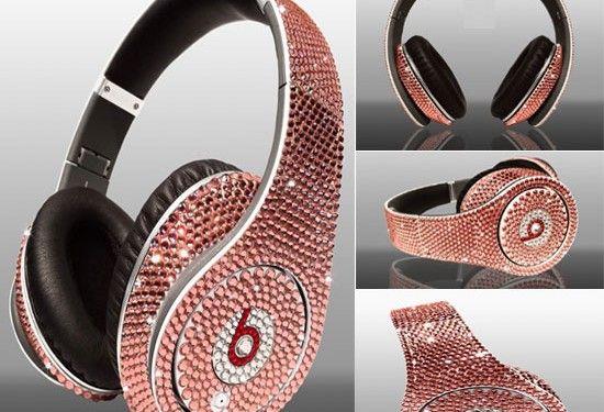 Limited edition Dr Dre Beats Studio Headphones Swarovski Light Rose (5)