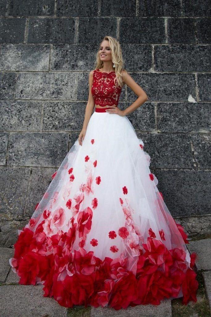 Rote Brautkleider: 70+ charmante Styles für schwerelos