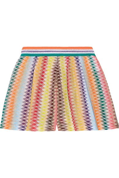 Missoni - Mare Rhombus Metallic Crochet-knit Shorts - Orange - IT40
