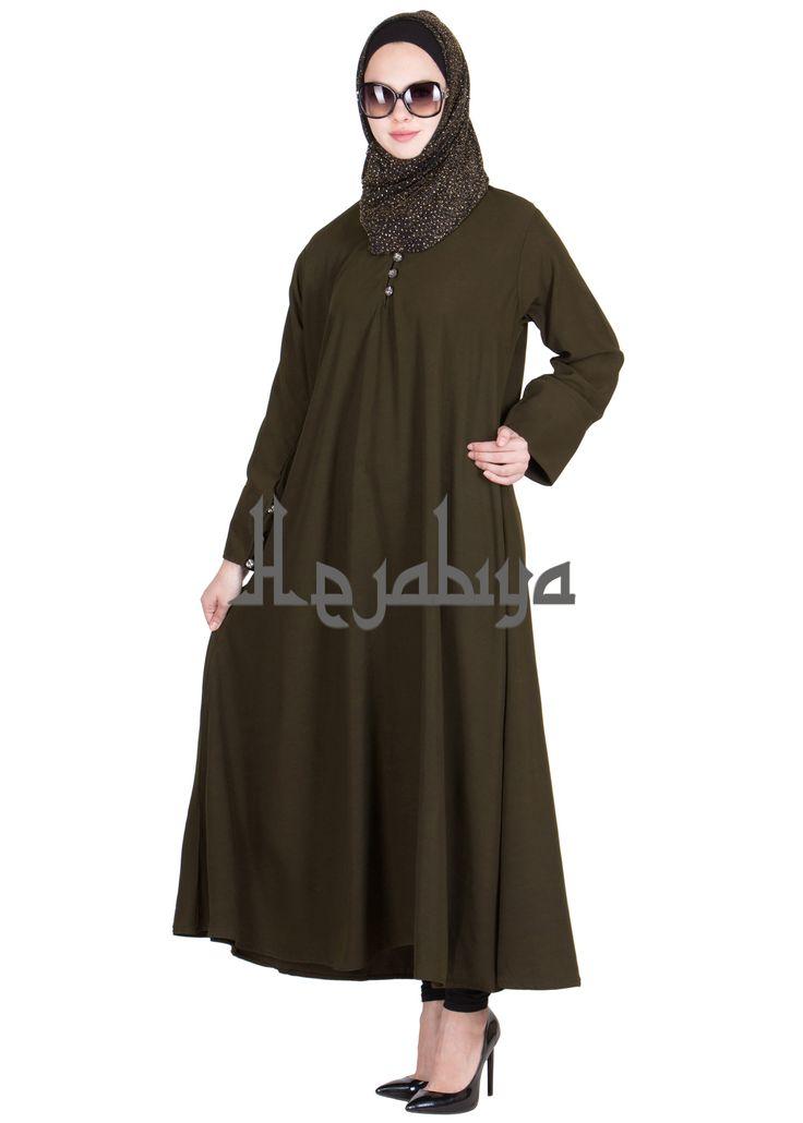Hejabiya Dark Grey Colored Flayered Fashionable Abaya shop on www.hejabiya.com  Abaya, Burqa, College Abaya, Colorful Abaya, Dubai Abaya, Dubai Style Abaya, elegant, Fashion Abaya, Fashionable, hejab, hejabiya, Hijab, Islamic clothing, islamic dress, kaftaan, kaftan, khimar, khumur, modesty wear, Naqaab, Naqab, Onepiece, veil, Women, Women Clothing