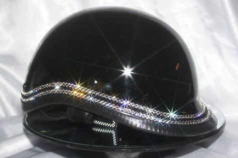 BLING DOT 3 ROW WITH JET BLACK 180.00 DEVAS BLING CRYSTALLIZES ANY AND ALL DESIGNS WITH OUR CERTIFIED BLINGER FROM SWAROVSKI ELEMENTS. WE WANT ALL THE DEVAS OUT THERE TO ENJOY THE ATTENTION THE MEN ONCE HAD! WE SPECIALIZE IN CUSTOMIZING DOT OR NOVELTY MOTORCYCLE HELMETS WITH BLING THAT WILL LAST FOREVER. PLEASE CONTACT US FOR YOUR CUSTOM DESIGN, OR TAKE A LOOK AND CHOOSE FROM ONE OF OUR DESIGNS ON OUR SITE. THANKS FOR CHECKING OUT DEVAS BLING.