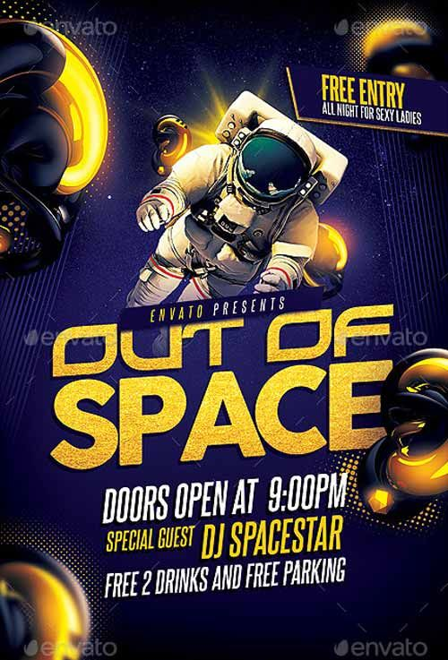 Out of Space Party Flyer Template - http://ffflyer.com/out-of-space-party-flyer-template/ Enjoy downloading the Out of Space Party Flyer Template by 1jaykey   #Club, #Dj, #Electro, #Elegant, #Event, #Indie, #Party, #Pop