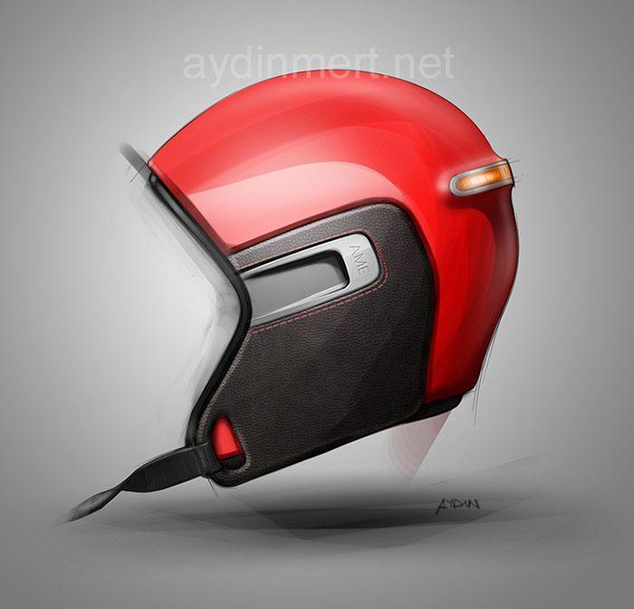 Product design: Very cool sketch, sketching helmet