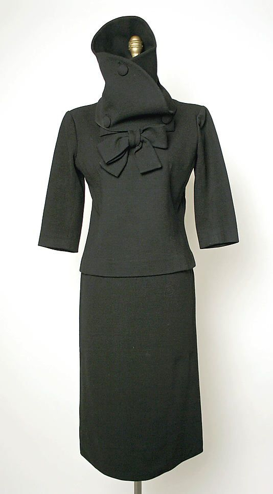 Wool ensemble by Cristobal Balenciaga, late 1950s.