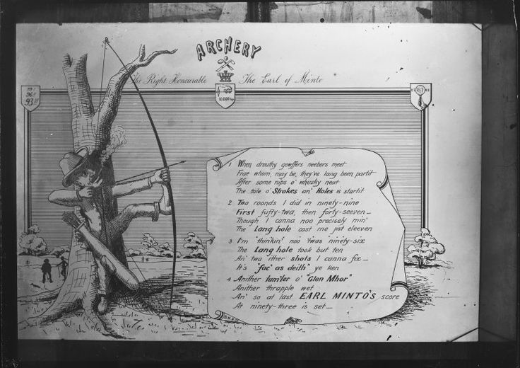 022348PD: An illustrated poem about golf. The heading reads Archery: the Right Honorable the Earl of Minto, ca. 1900. http://encore.slwa.wa.gov.au/iii/encore/record/C__Rb1851997__Spostcard__Ff%3Afacetlocations%3Ash%3Ash%3AHeritage%20Collections%3A%3A__Ff%3Afacetlocations%3Ase%3Ase%3AElectronic%20Resources%3A%3A__P1%2C37__Orightresult__U__X3?lang=eng&suite=def#attachedMediaSection