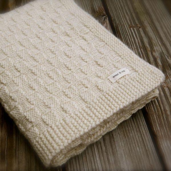 Nobleknits Com Big Bad Wool Basket Weave Baby Blanket