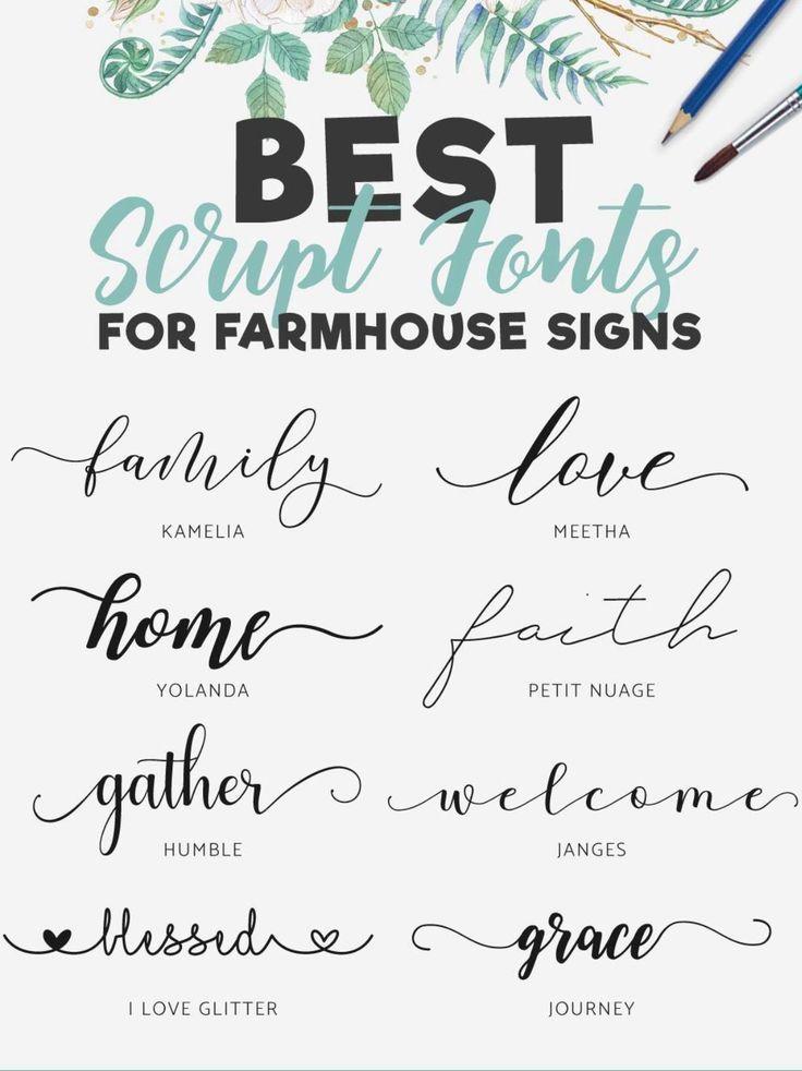 Lettering, Cricut Fonts, Sign