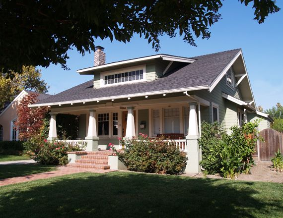 California Bungalow.... have always loved the big front porches on this style of home