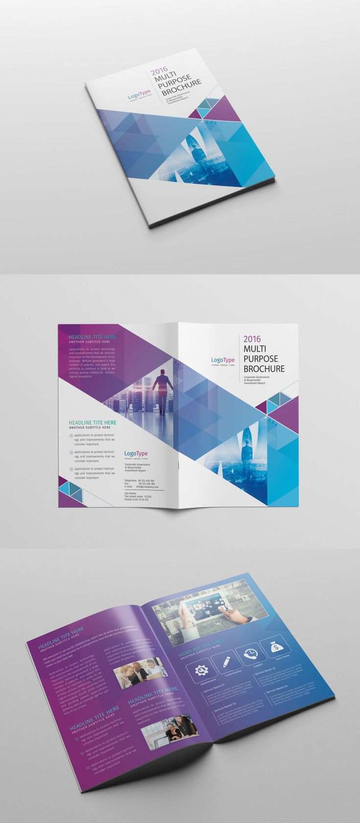 must see brochure cover pins portfolio design portfolio abstract bi fold brochure template psd