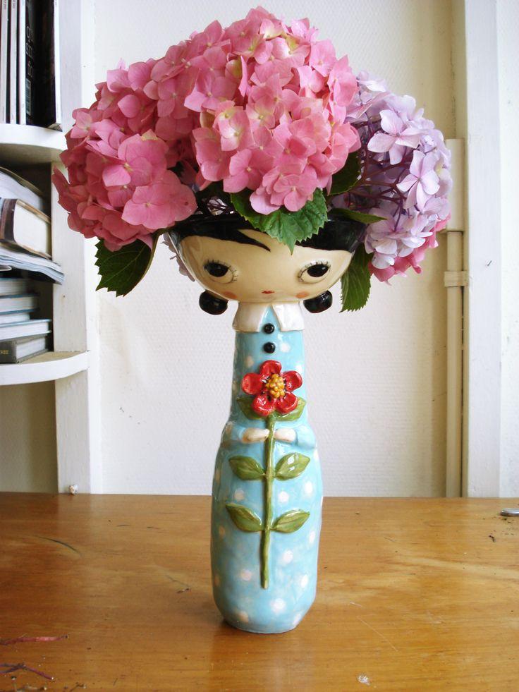 Ceramic vase by Christina Gordon [Jam Fancy], Melbourne, Australia.