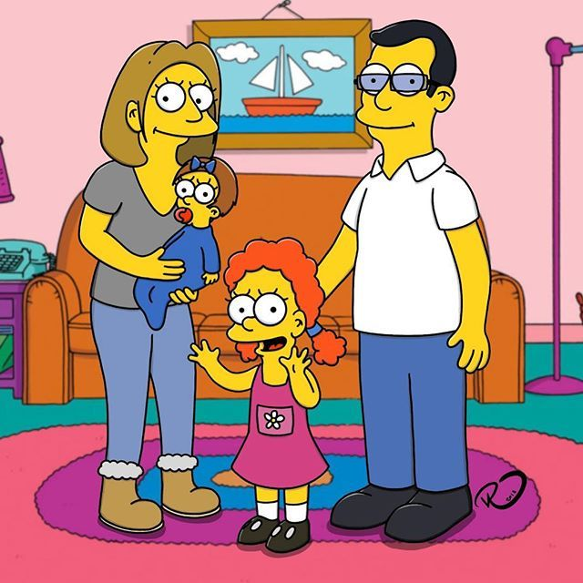 Simpsons Style Family Familyportraits Caricature Drawing