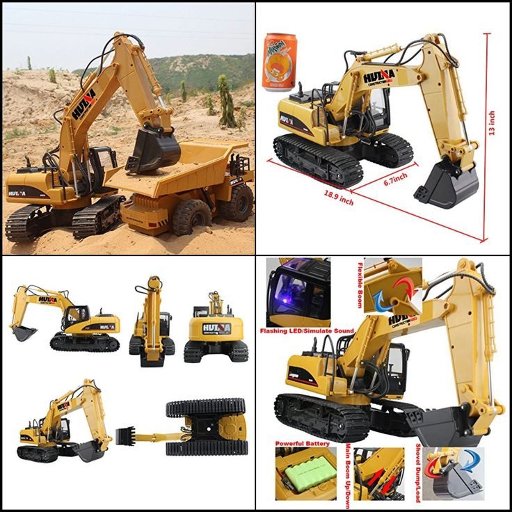 Electric RC Tractor Bulldozer Truck Excavator Remote Control Electronic Toy Gift