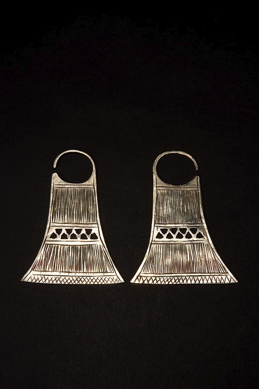 Mapuche jewellery.  I bought a beautiful pin, in Valparaiso, made by a Mapuche who's beaten it out of an oxidised spoon and then re-dipped it in Silver - stunning.