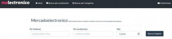 Mercadoelectronico, buscador de ofertas de empleo en español