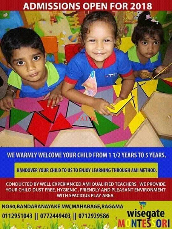 Wisegate Montessori Ami Preschool Method Of Education Taught Only English Medium By Our Qualified Well