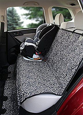 Deeziner K9 - Waterproof Pet Car Seat Cover - Luxurious Leopard Print - Best Silicone Non-slip Backing - Seat Anchors - For Cars, Midsize SUV's and Trucks - REGULAR Size