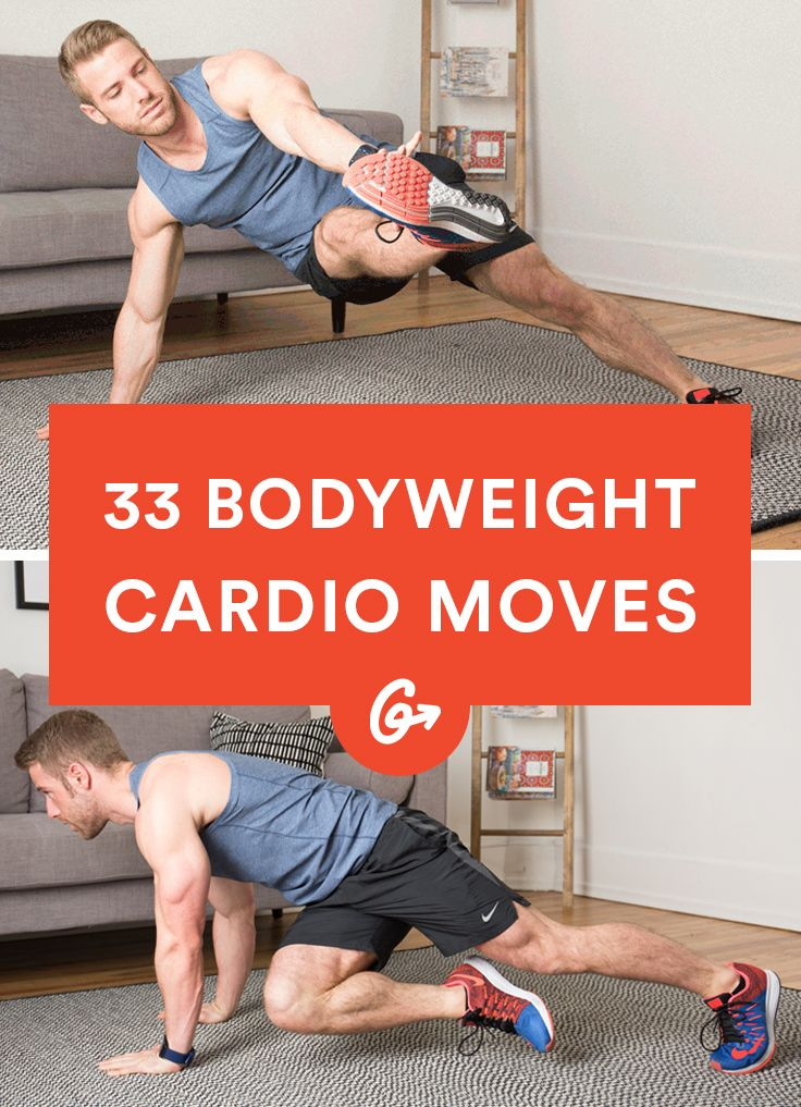 You don't need a machine to get your heart pumping. #cardio #bodyweight…