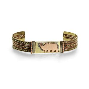 Sought after Elephant design bracelet at a price that any budget can afford. Elephant has trunk up to bring good luck.