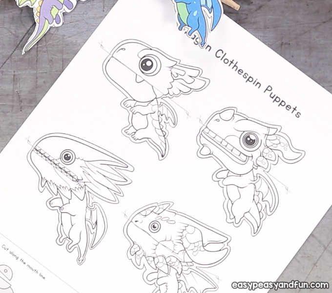 Dragon Clothespin Puppets Dragon Puppet Puppets Shark Week Crafts