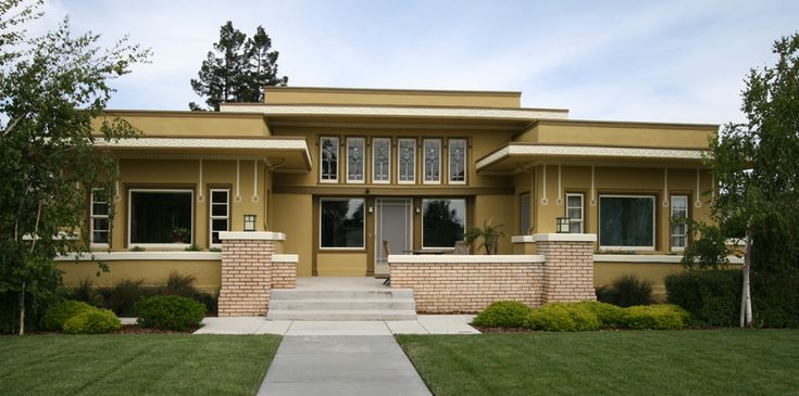 74 best house plans images on pinterest modern home for Prairie home plans frank lloyd wright