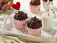 Muffin al cioccolato senza uova e burro   Ho Voglia di Dolce