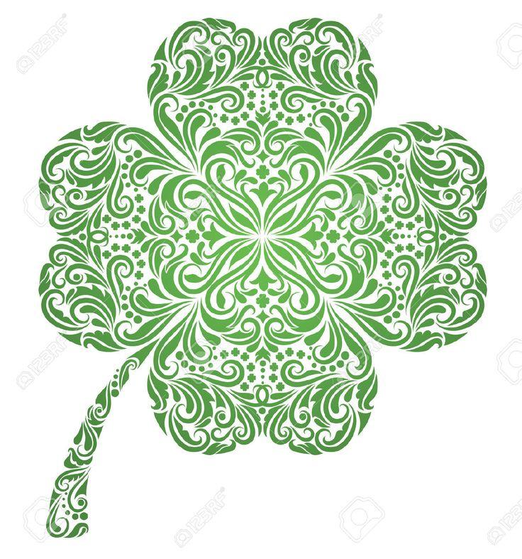 celtic four leaf clover tattoo - Google Search