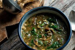 Mushroom-Spinach Soup With Middle Eastern Spices Recipe - NYT Cooking