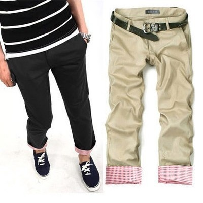 in 2012 summer the new style tidal current fashion practices moral culture the khaki leisure trousers nine point trousers 9 distributed trousers male  $18.06