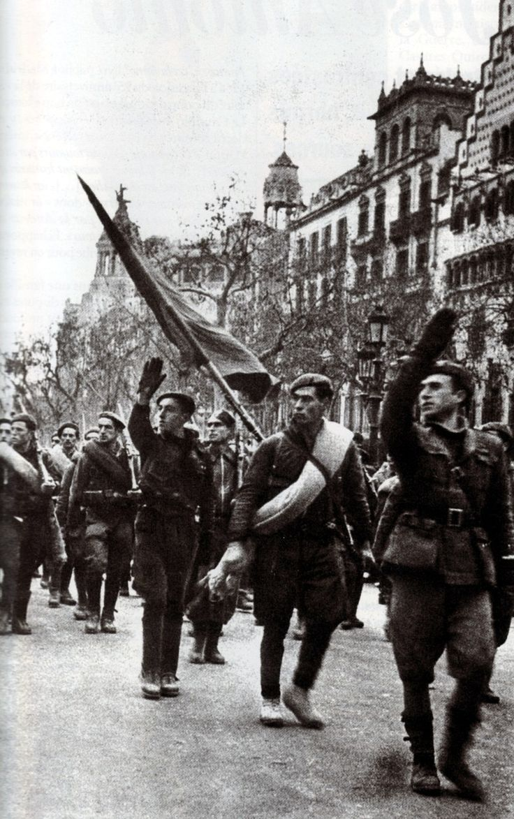best images about spanish civil war photographs spanish civil war franco s troops entering republican barcelona and would be in power over fascist spain until 1974