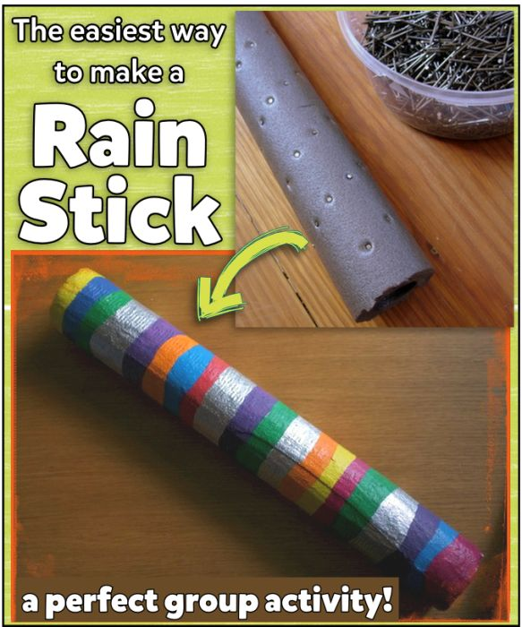 Selfmade rainsticks cheap easy great for kids my for Easy rain stick craft