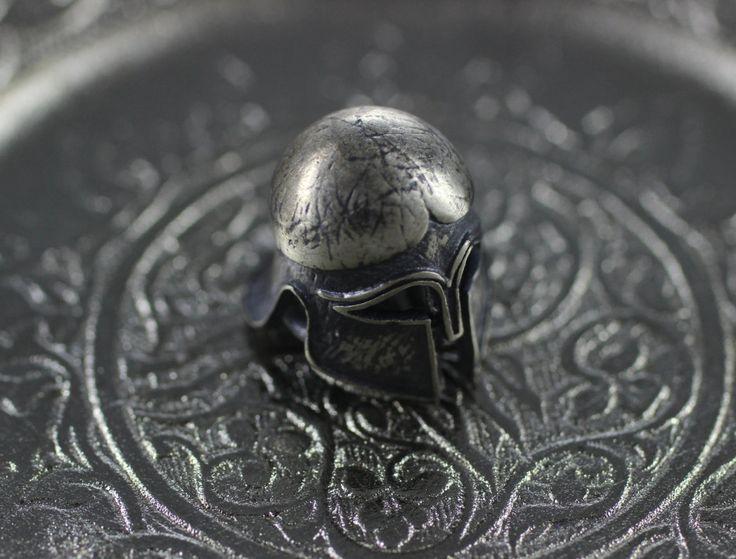 925 perles de gladiateur en argent, perles 13mm casque avec deux trous, faits à la main breloques casque spartiate : Perles en Cristal, Swarovski® par la-mercerie-de-ceylin