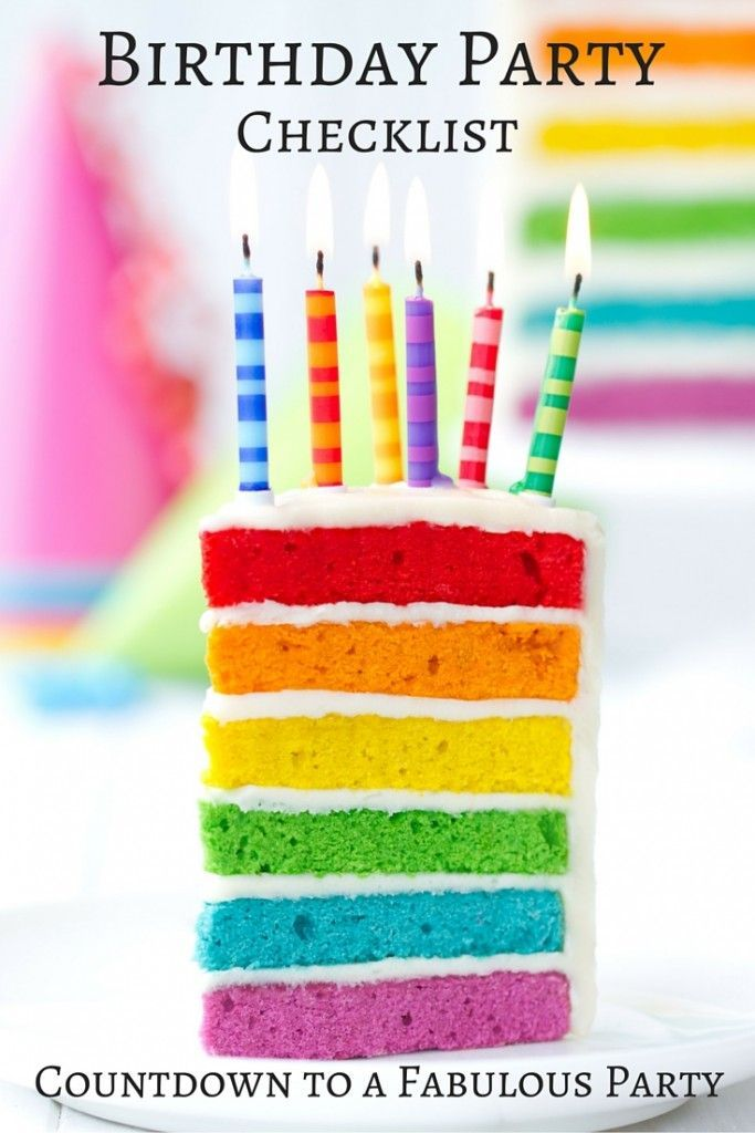 Birthday Party Checklist: Countdown to a Fabulous Party!