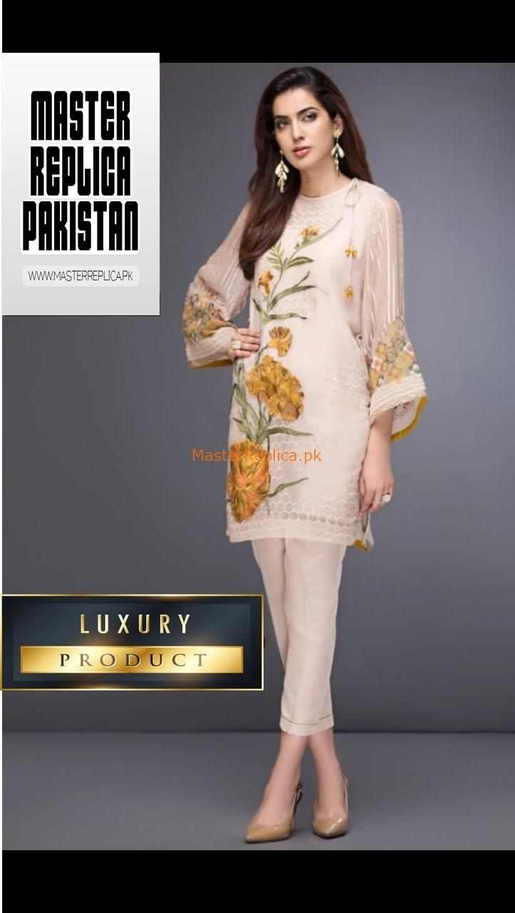 eb2eabfb7e Check Out BAROQUE LUXURY EMBROIDERED CHIFFON KURTI COLLECTION 2019 REPLICA  at Master Replica Pakistan Call/WhatsApp: +923322622227 #pakiclothing ...
